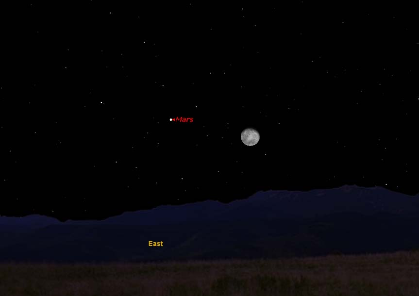 Mars and the Moon Have Night Sky Rendezvous Thursday