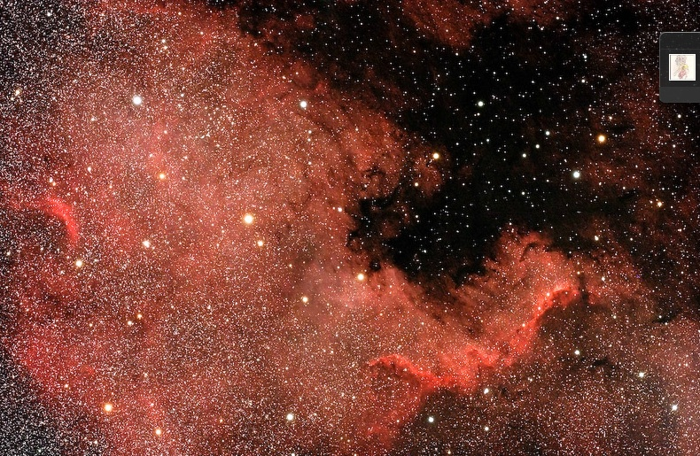 North America Nebula Burns Bright in Skywatcher Photo