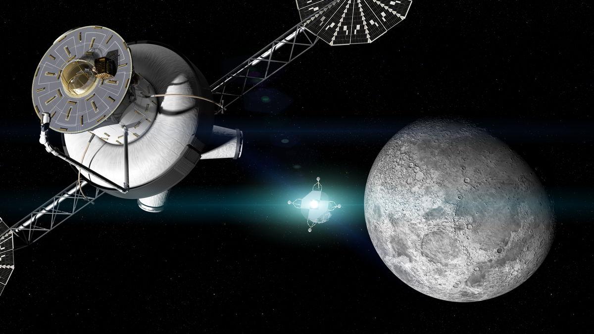 Lunar Surface Robot Departs