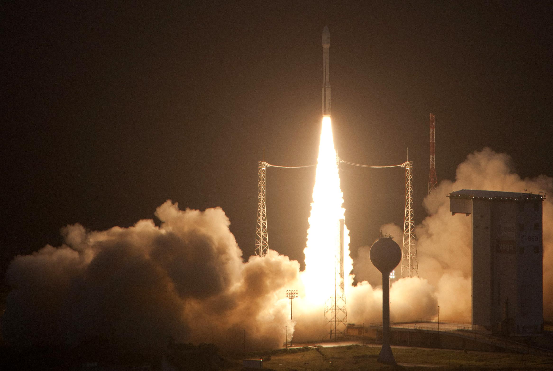 Europe Launches New Vega Rocket on Maiden Voyage