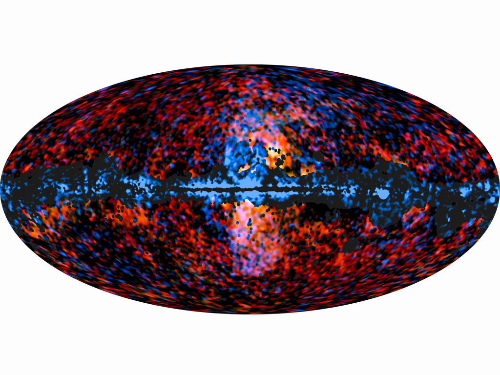 Galactic Haze Seen by Planck and Galactic 'Bubbles' Seen by Fermi