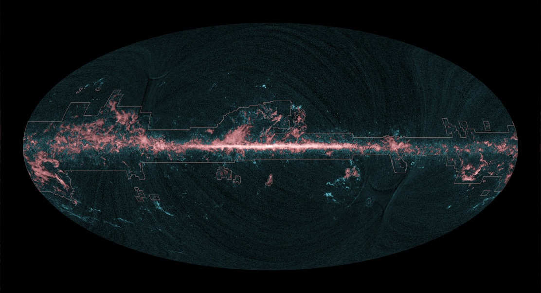 Planck All-Sky Image Superimposition