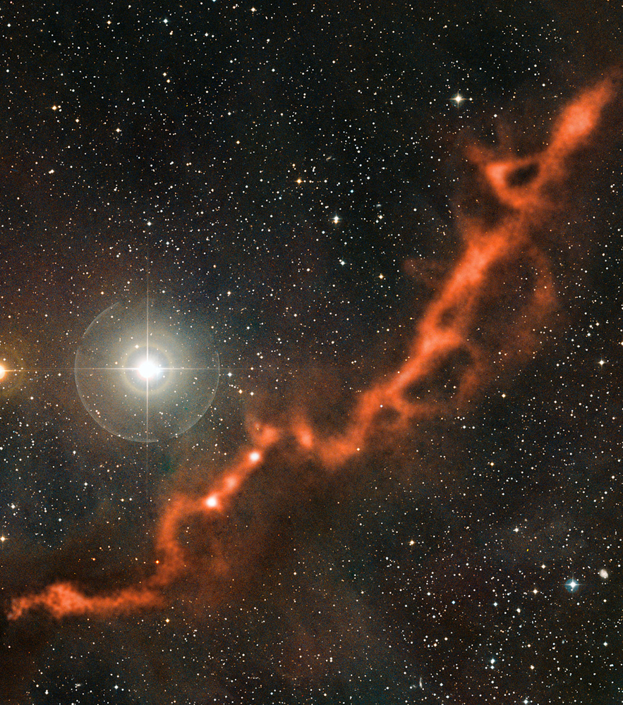 Space Dust Tentacle Hides Baby Stars in New Photo