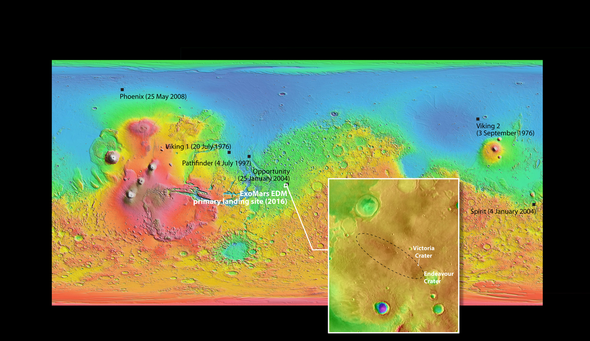 Proposed Landing Site for the 2016 ExoMars Mission