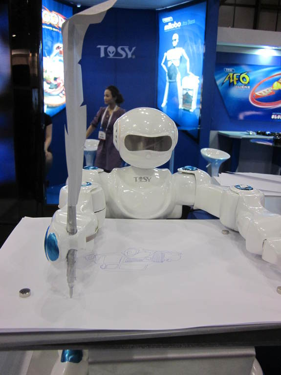 TOSY Robotics' 'SketRobo' can draw unicorns, trees, Spiderman and more.