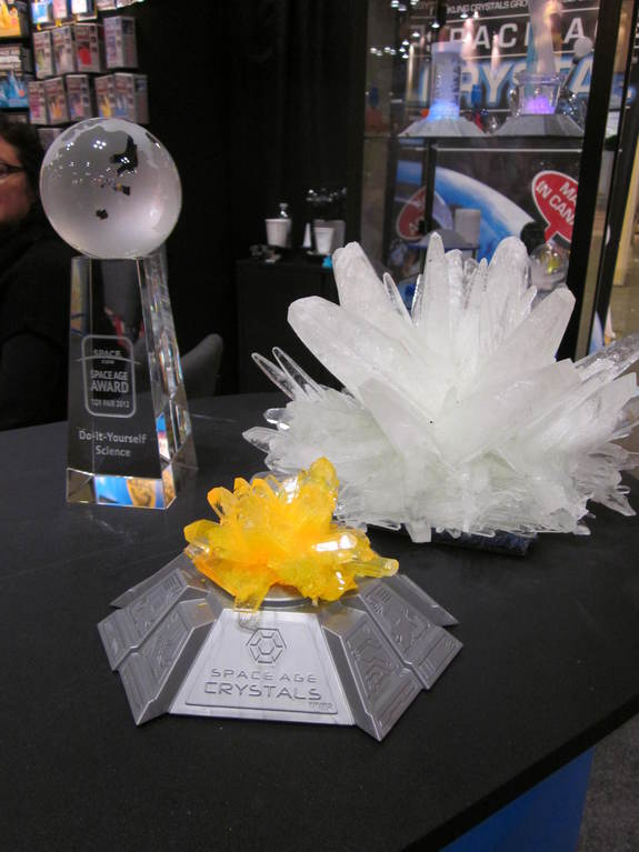 The 'New Space Age Crystal Growing Kit' from Kristal Educational won the 2012 SPACE.com Space Age Award in the 'Do-It-Yourself' category.