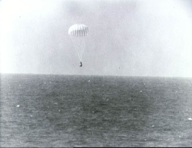 Splashdown of Mercury-Atlas 8 Spacecraft