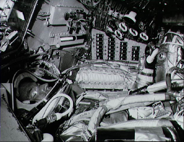 Title: Astronaut Gordon Cooper in His Mercury Spacecraft
