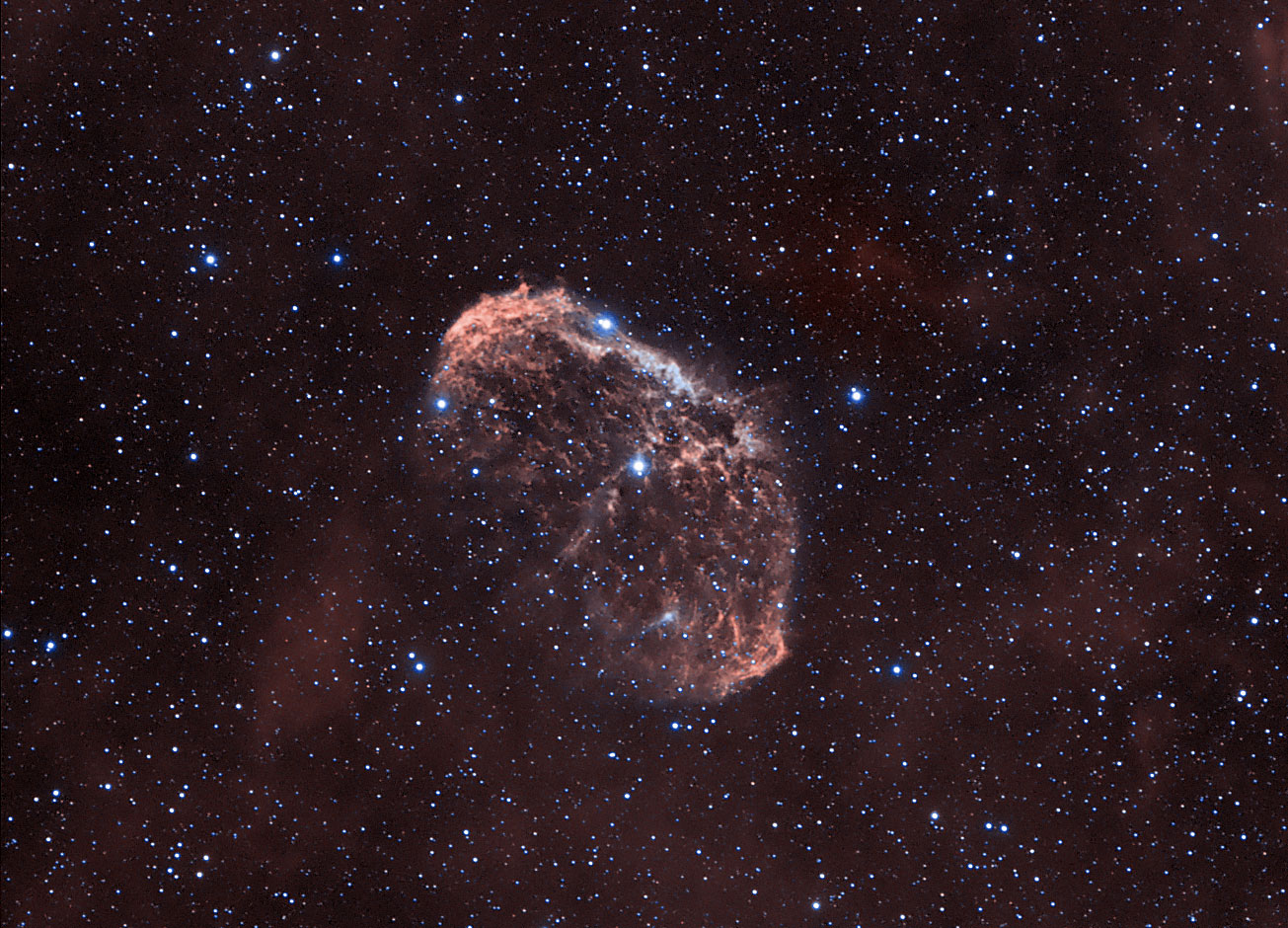 Booming Crescent Nebula Shines in Skywatcher Photo