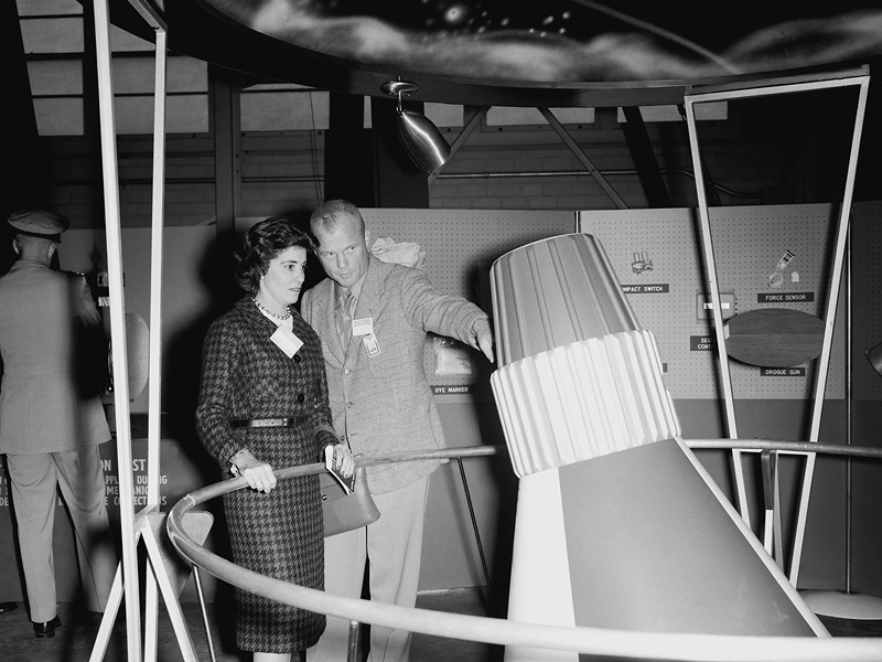 John Glenn with His Wife, Annie
