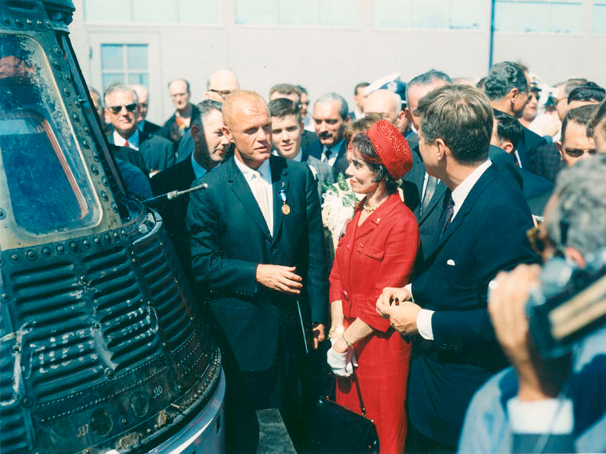 John Glenn with President Kennedy