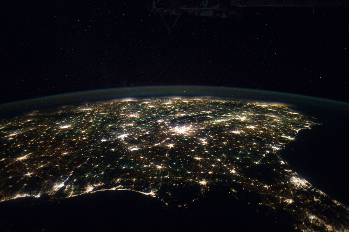 Southeastern United States Seen from Space