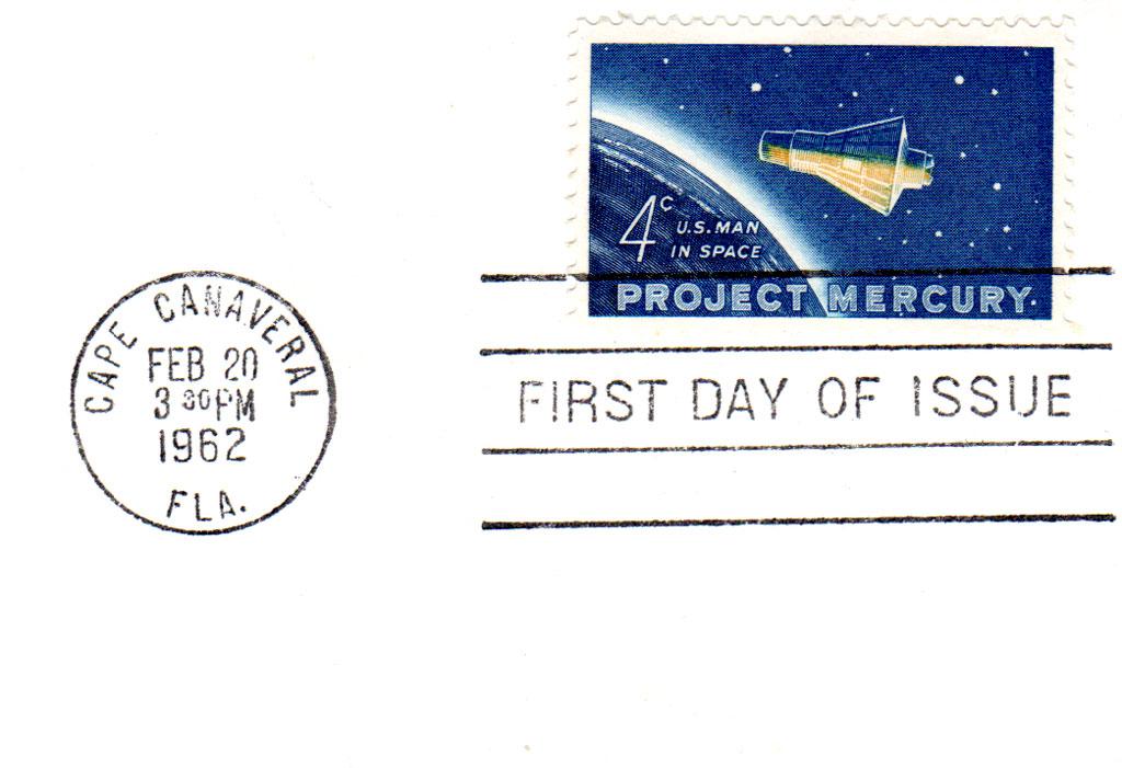 Secret Stamp for John Glenn's Flight