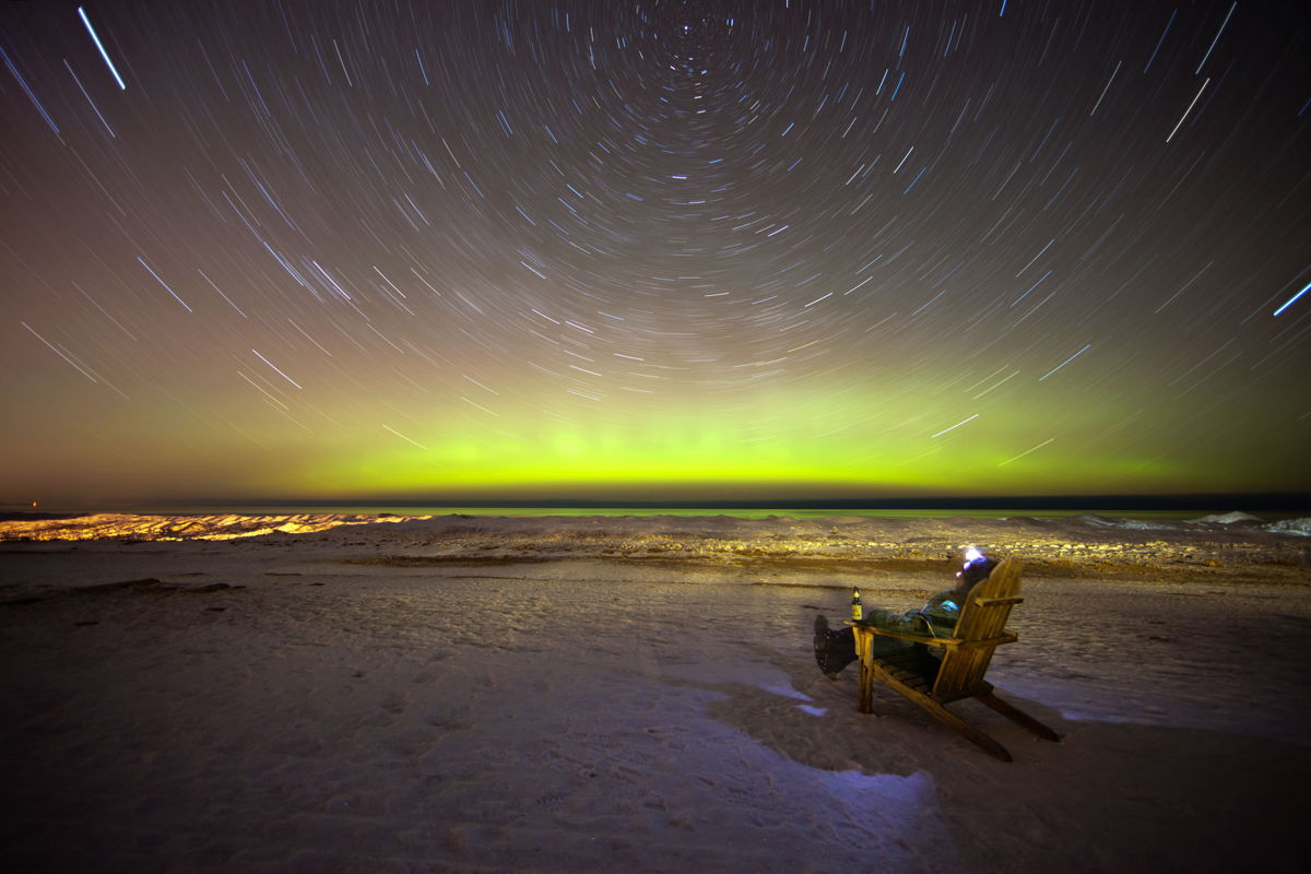 Aurora over Lake Superior