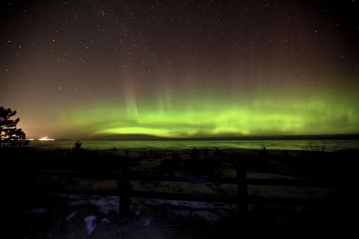 Aurora over Marquette County, Upper Peninsula of Michigan