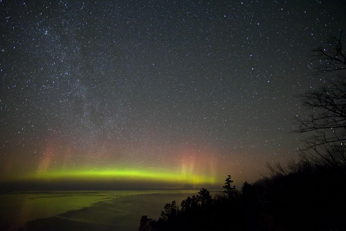 Aurora over Upper Peninsula, Michigan