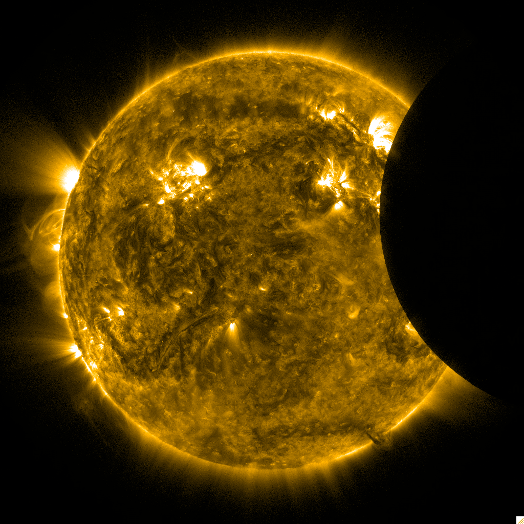 Lunar Transit of Sun, Feb. 21, 2012