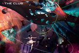 The dance club is the one room on board with no windows. It is a totally encompassing zero-gravity psychedelic experience.