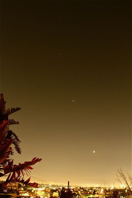 Moon, Venus & Jupiter over Los Angeles