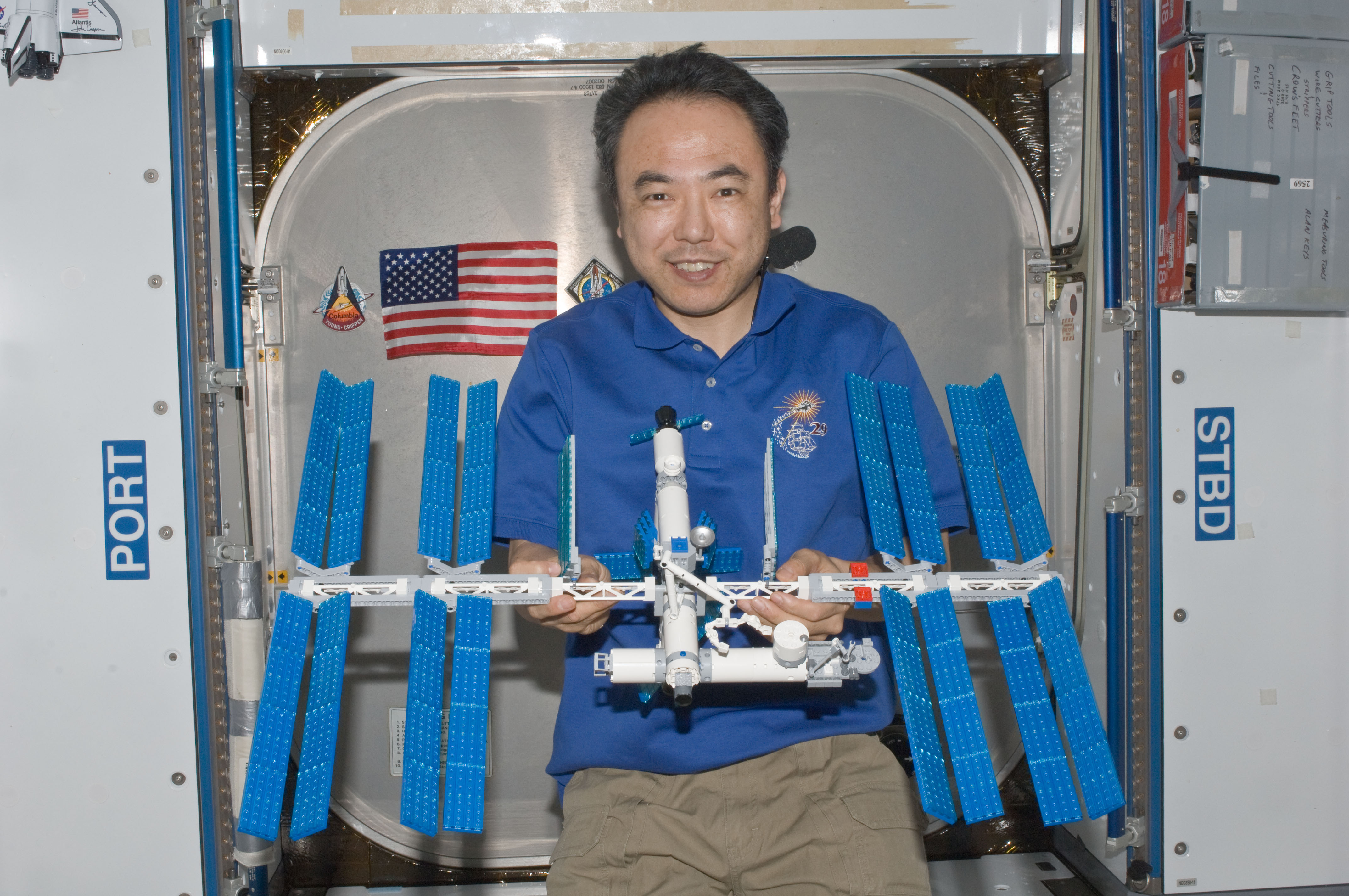 Astronaut Builds LEGO Space Station Inside Real-Life Space Station