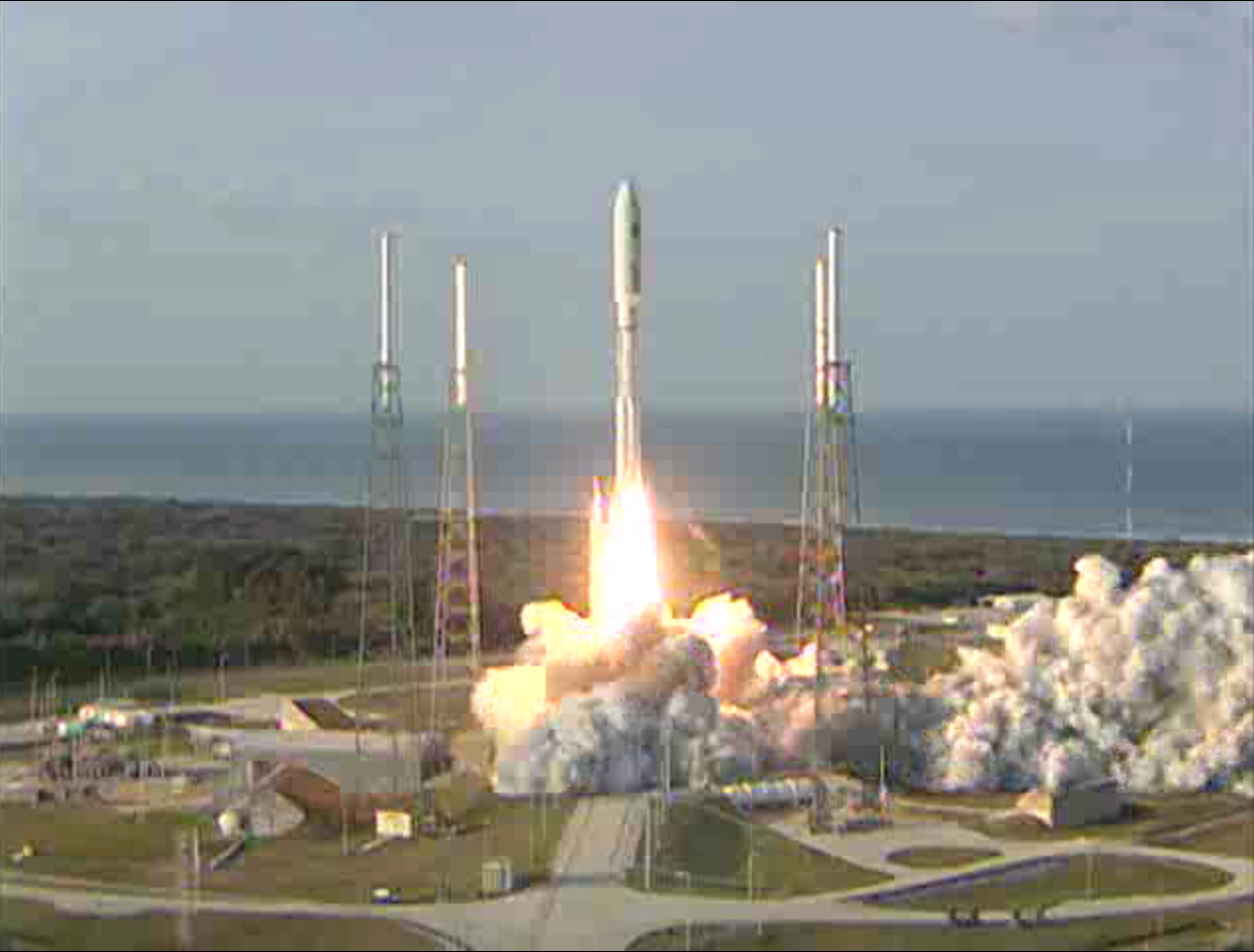 LIFTOFF! Atlas 5 Launches MUOS-1