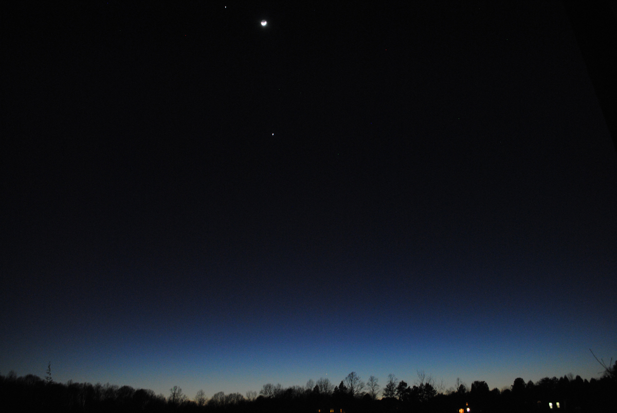 Jupiter, Venus, Moon and Mercury
