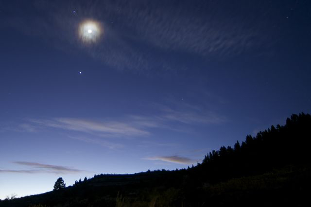 Jupiter, Venus and the Moon over Teide National Park, Canary Islands #2
