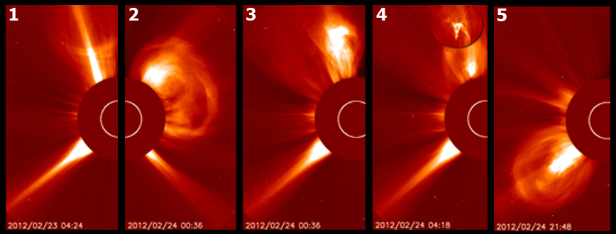 Sun Unleashes 5 Solar Eruptions in 2 Days