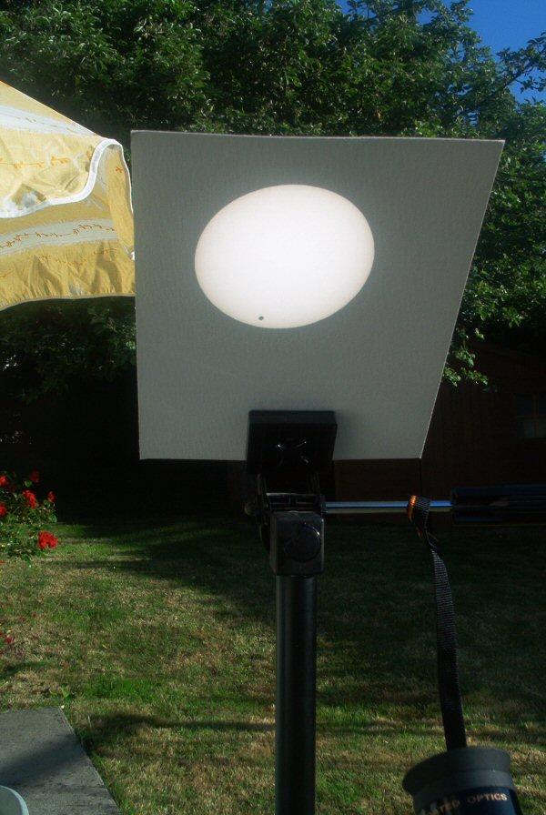 Venus Transit Projected