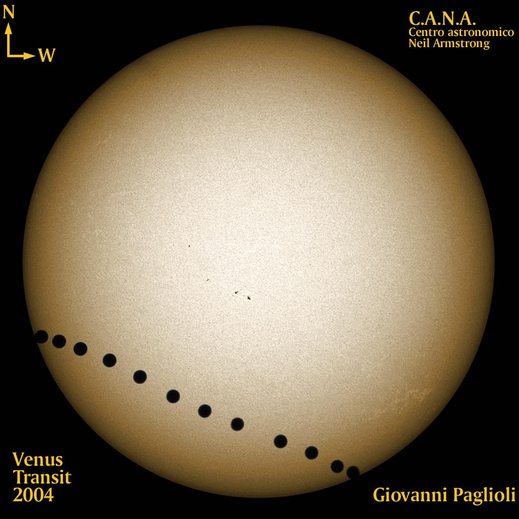 Venus' Path Across the Solar Disc