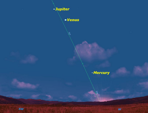 Mercury will be at its best in the evening sky for the year 2012 for observers in the northern hemisphere on March 6, 2012.
