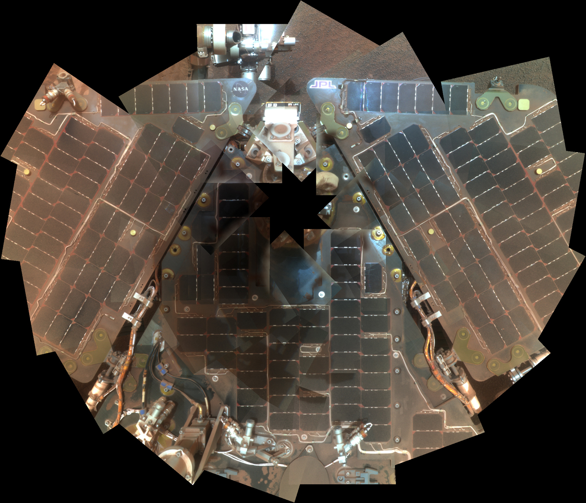 Opportunity Rover Self-Portrait From 2007