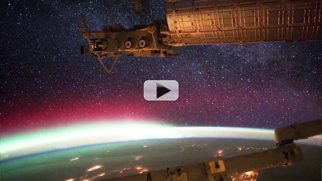 Space Station's Aurora Fly-Through