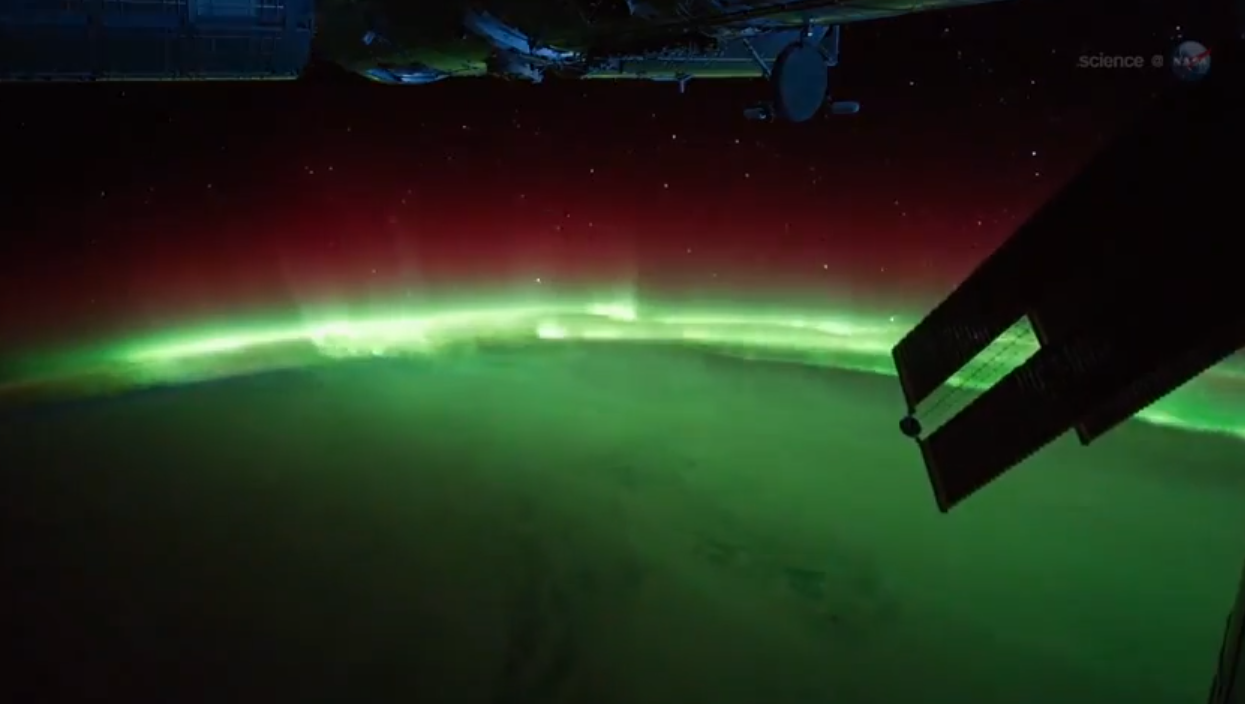 Space Station Flies Through Spectacular Northern Lights Display in Astronaut Video