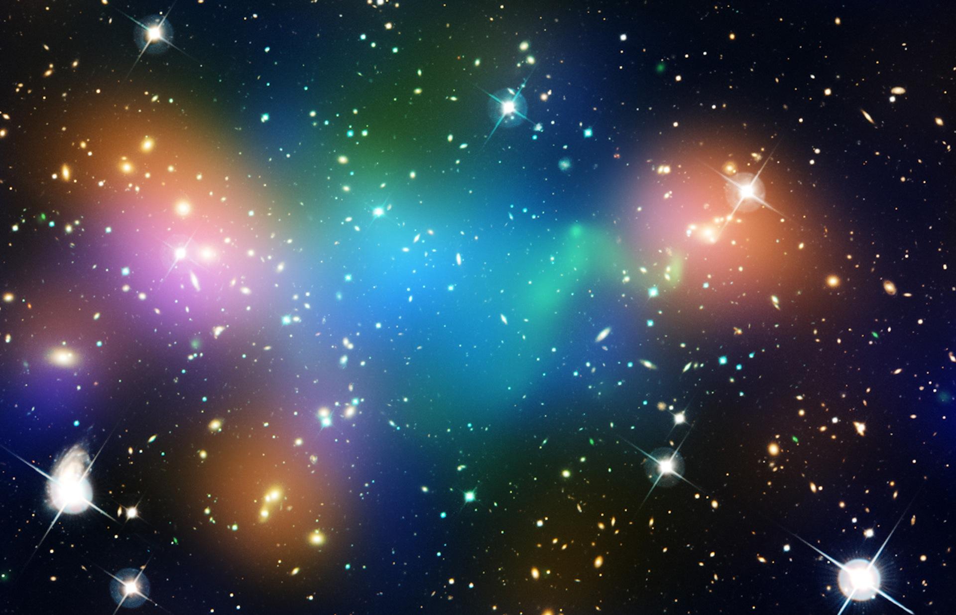 Dark Matter Core Defies Explanation in Hubble Image