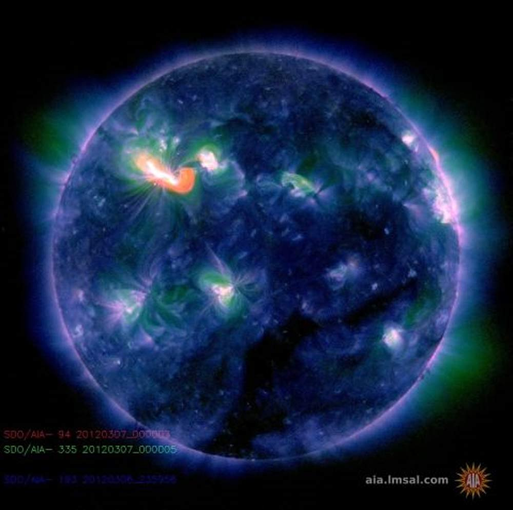 X-Class Solar Flare Seen by SDO - March 6, 2012