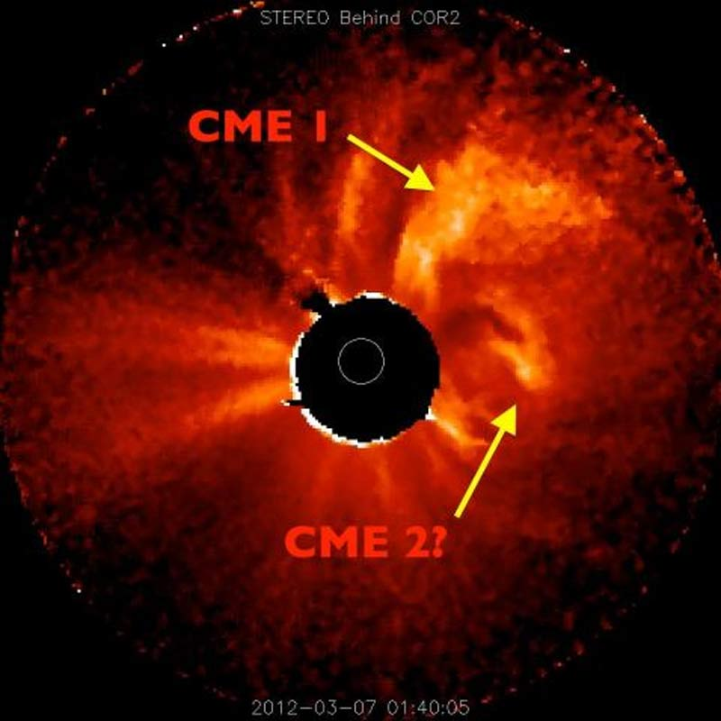 Coronal Mass Ejections from X-Class Solar Flares - March 6, 2012