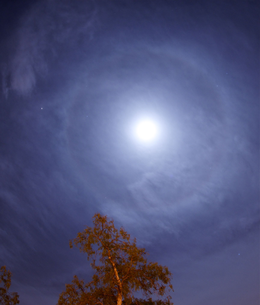 Mars and Moon Halo over Tenerife #2