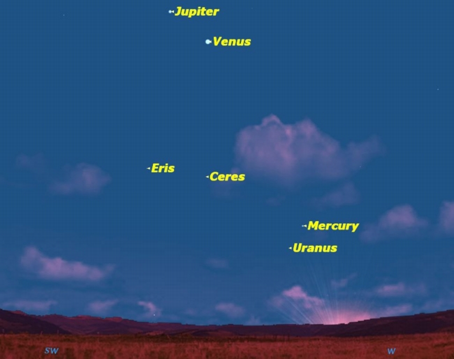 Jupiter and Venus Set for Night Sky Rendezvous