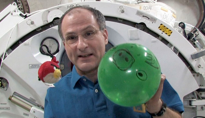 Don Pettit and Angry Birds Game Aboard the ISS