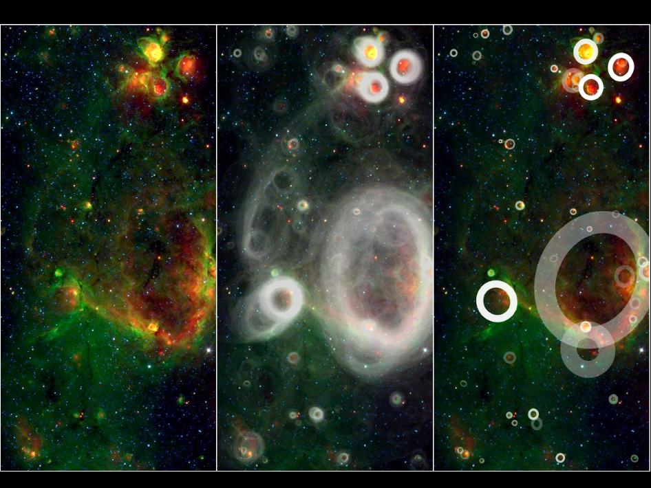 Citizen Scientists Discover Cosmic Bubbles in Milky Way Galaxy