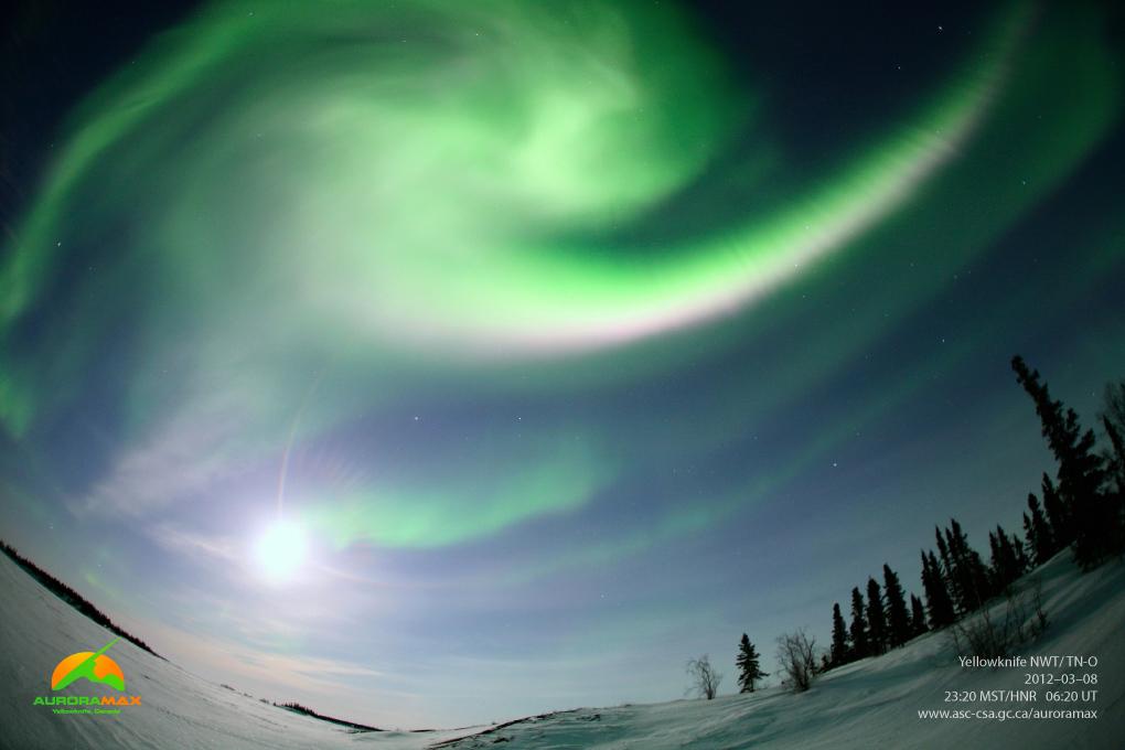 Aurora over Yellowknife, NWT, Canada, March 8, 2012