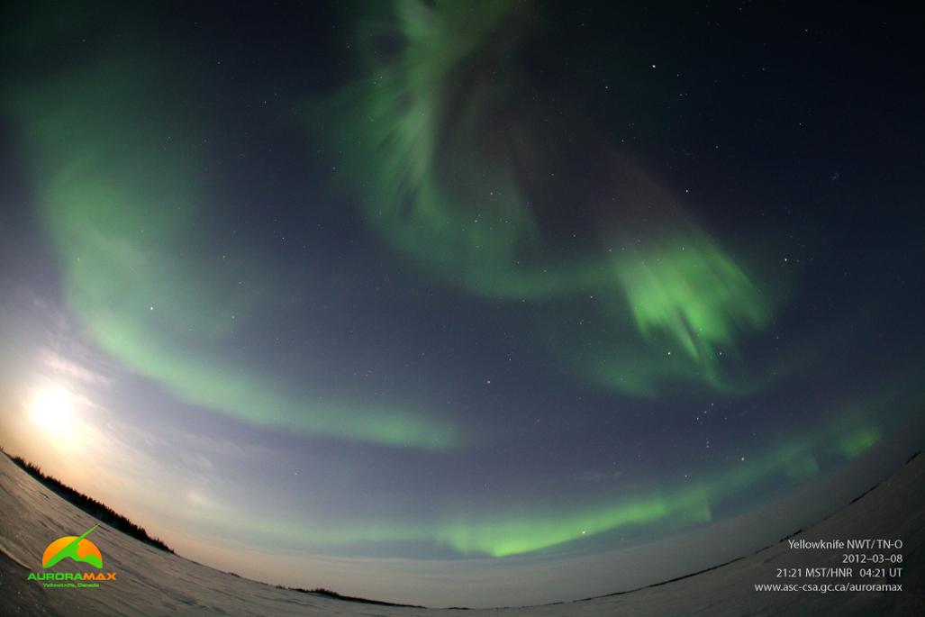 Aurora over Yellowknife, NWT, Canada, March 8, 2012 #2