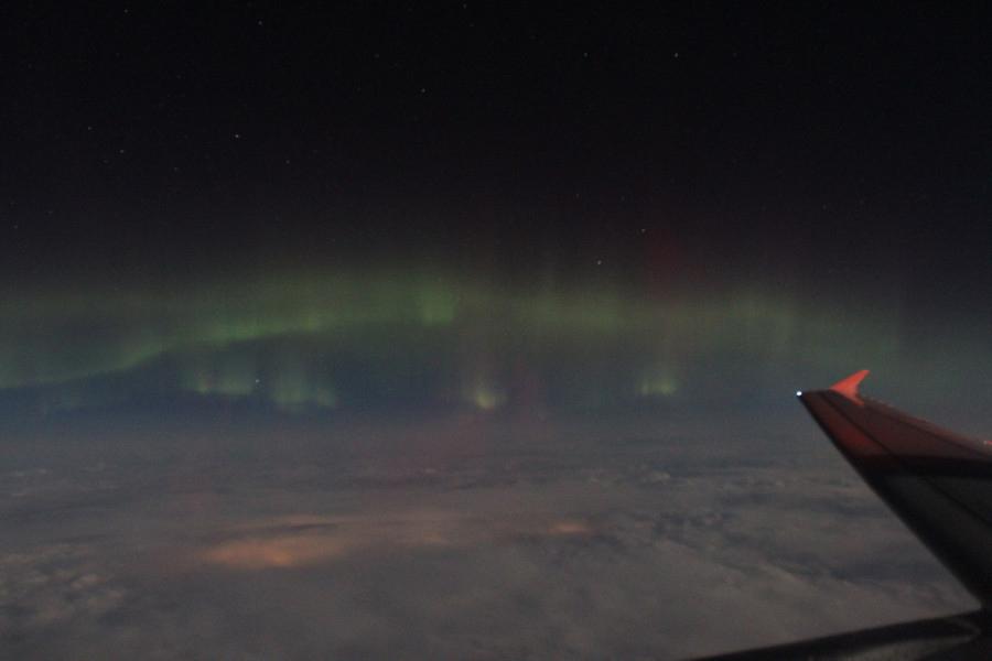 Aurora Seen from an Airplane