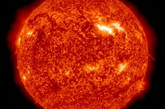 This image, captured by NASA's Solar Dynamics Observatory (SDO) on March 10, 2012, shows an active region on the sun, seen as the bright spot to the right. Designated AR 1429, the spot has so far produced three X-class flares and numerous M-class flares.