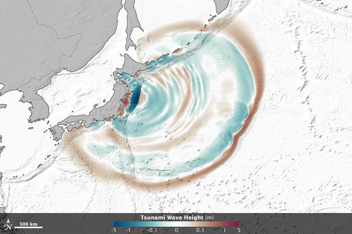 Satellites Spy Seafloor Focusing Tsunami Waves
