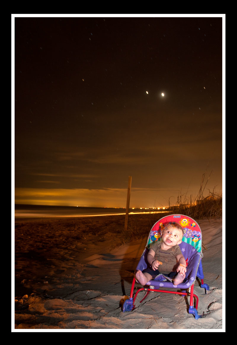 Jupiter and Venus At the Beach