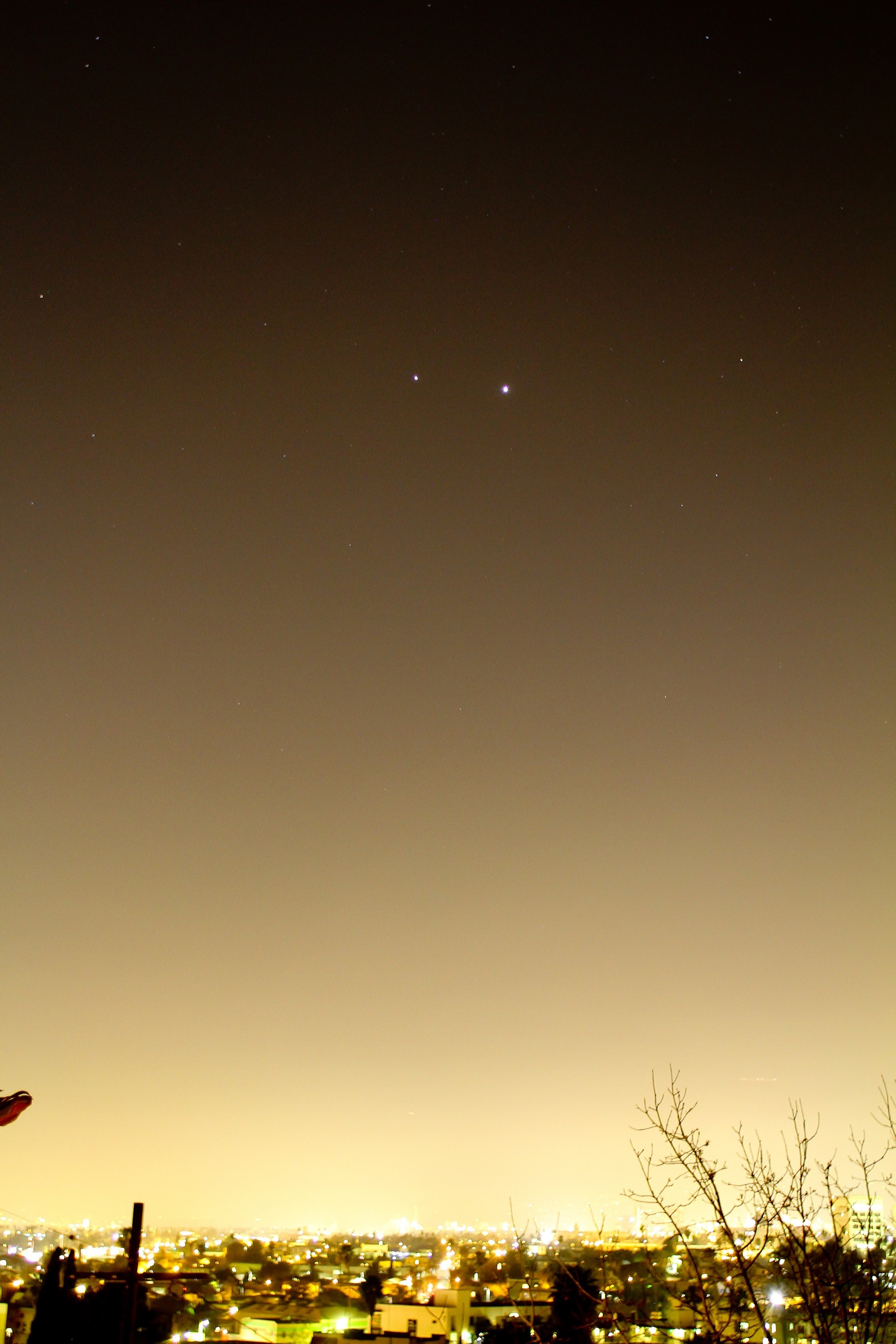 Jupiter and Venus Over L.A.