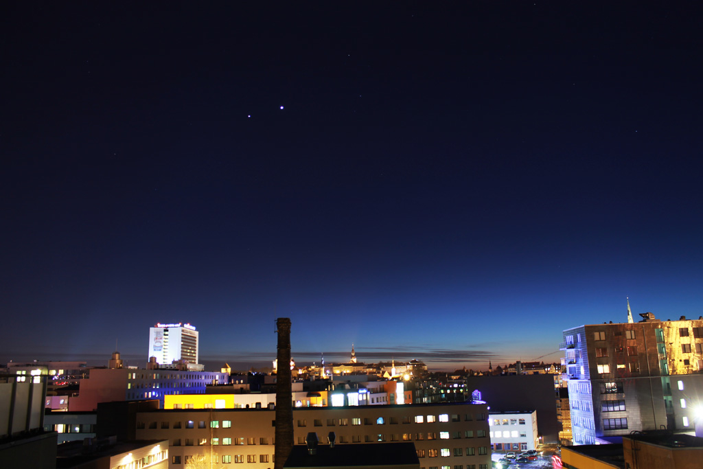 Planets over Tallinn, Estonia