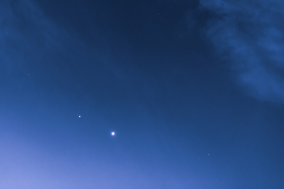 Venus and Jupiter in the Northern California Sky